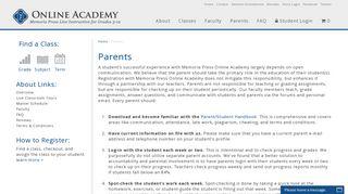 Parents - Memoria Press Online Academy