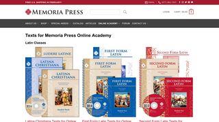 Texts for Memoria Press Online Academy   Memoria Press