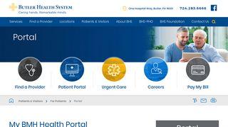 Portal   My BHM Health - Butler Health System