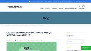 Cara Menampilkan Database MySQL Menggunakan PHP - Belajarphp