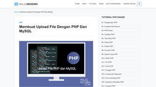 Membuat Upload File Dengan PHP Dan MySQL - Malas Ngoding