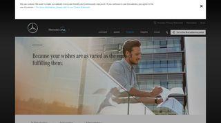 Mercedes Me Finance: Insurance, financing & leasing - Mercedes-Benz