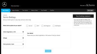 Mercedes-Benz Online Service Booking Application