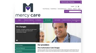 For providers - Mercy Care Plan