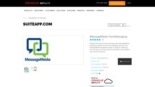 MessageMedia Text Messaging - SuiteApp.com