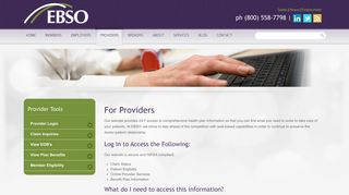 Provider Login | Employee Benefit Plans & Administration | EBSO ...