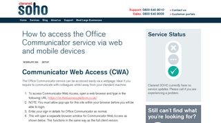 How to access the Office Communicator service via web and mobile ...