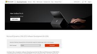 Download Microsoft Dynamics CRM 2013 Software Development Kit ...