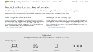 Product activation and key information - Microsoft