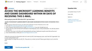 ACCESS THE MICROSOFT LEARNING BENEFITS AND EXAMS DASHBOARD WITHIN ...