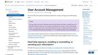 User Account Management | Microsoft Docs
