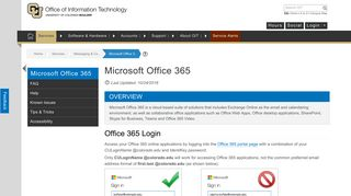Microsoft Office 365 | Office of Information Technology