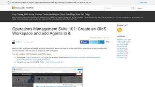 Operations Management Suite 101: Create an OMS Workspace and ...
