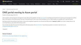 OMS portal moving to Azure portal | Azure updates | Microsoft Azure