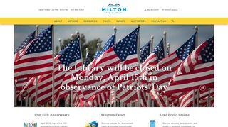 Milton Public Library - Milton, Massachusetts