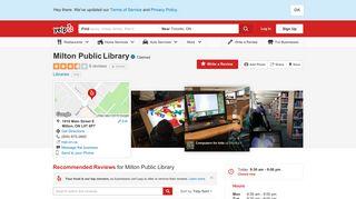 Milton Public Library - Libraries - 1010 Main Street E, Milton, ON ... - Yelp