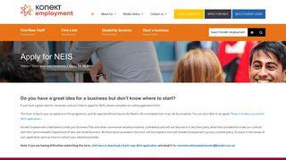 Apply for NEIS - Konekt Employment