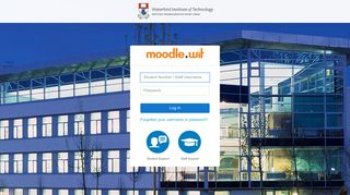Moodle: Log in to the site