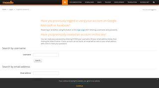Forgotten password - Moodle.org