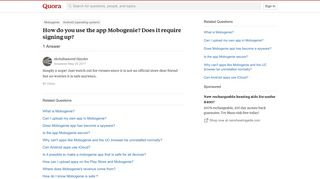 How to use the app Mobogenie? Does it require signing up - Quora