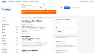 Monster Jobs, Employment | Indeed.com