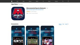 Monumental Sports Network on the App Store - iTunes - Apple