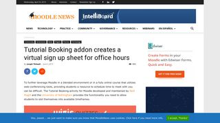 Tutorial Booking addon creates a virtual sign up sheet for office hours ...
