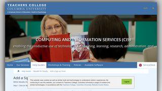 Add a Sign-up Sheet | Teachers College Columbia University