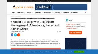 3 Addons to help with Classroom Management: Attendance, Faces ...