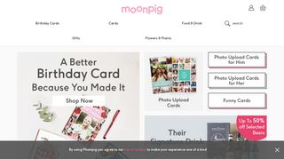 Moonpig | Personalised Cards | Unique Gifts | Flowers & Plants Online