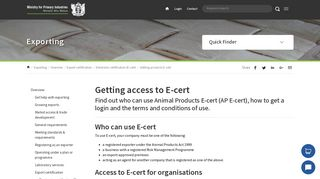 Getting access to E-cert | MPI | NZ Government
