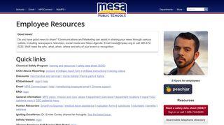 Mesa Public Schools » Employees