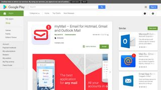 myMail – Email for Hotmail, Gmail and Outlook Mail - Apps on Google ...