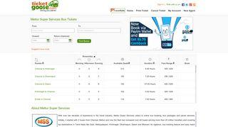 Mettur Super Services- Online Bus Booking-TicketGoose.com