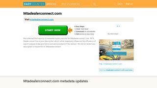MTA Dealerconnect (Mtadealerconnect.com) - MTA B2B - Easycounter