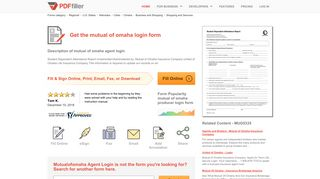 Mutual Of Omaha Login - Fill Online, Printable, Fillable, Blank | PDFfiller