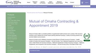 Mutual of Omaha Contracting & Appointment for Agents 2019 | NCC
