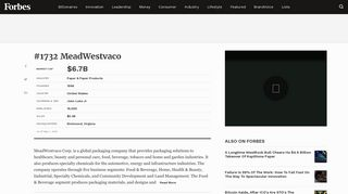MeadWestvaco on the Forbes Global 2000 List