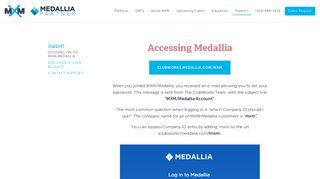 Logging on to MXM/Medallia