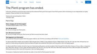 The Plenti Program | American Express US