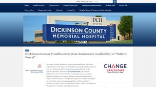 Patient Portal - Dickinson County Healthcare System