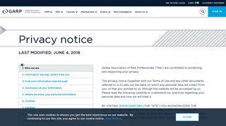 Privacy Notice | GARP