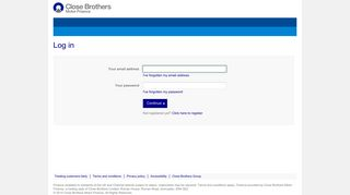Log in - Close Brothers Motor Finance