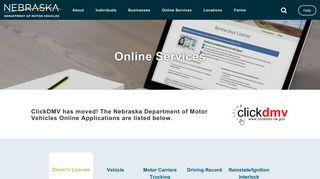 Online Services | Nebraska Department of Motor Vehicles