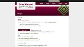 Login - Bank Midwest