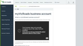 myVicRoads business account : VicRoads