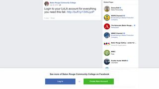 Login to your LoLA account for... - Baton Rouge Community College ...