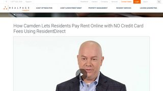 Online Rent Payments Customer Review Camden   RealPage