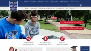Camden County College Home -