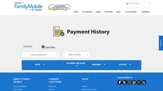 My Account   Payment History   Walmart Family Mobile
